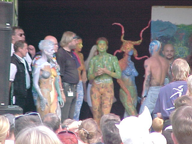 European Bodypainting Festival stage, 30/07/2000, 17:54