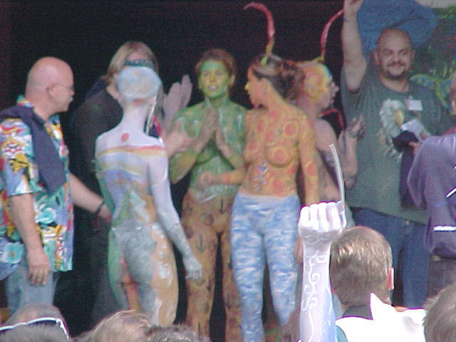 European Bodypainting Festival stage, 30/07/2000, 17:55
